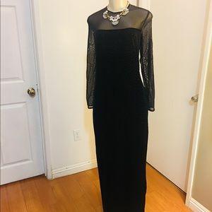 Velvet Maxi Party Dress